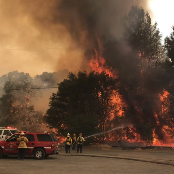 The Pawnee Fire has scorched thousands of acres and threatens hundreds of homes in Lake County. (Credit: Cal Fire)