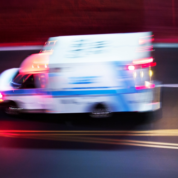 An ambulance is seen in a file photo. (Credit: iStock / Getty Images Plus)