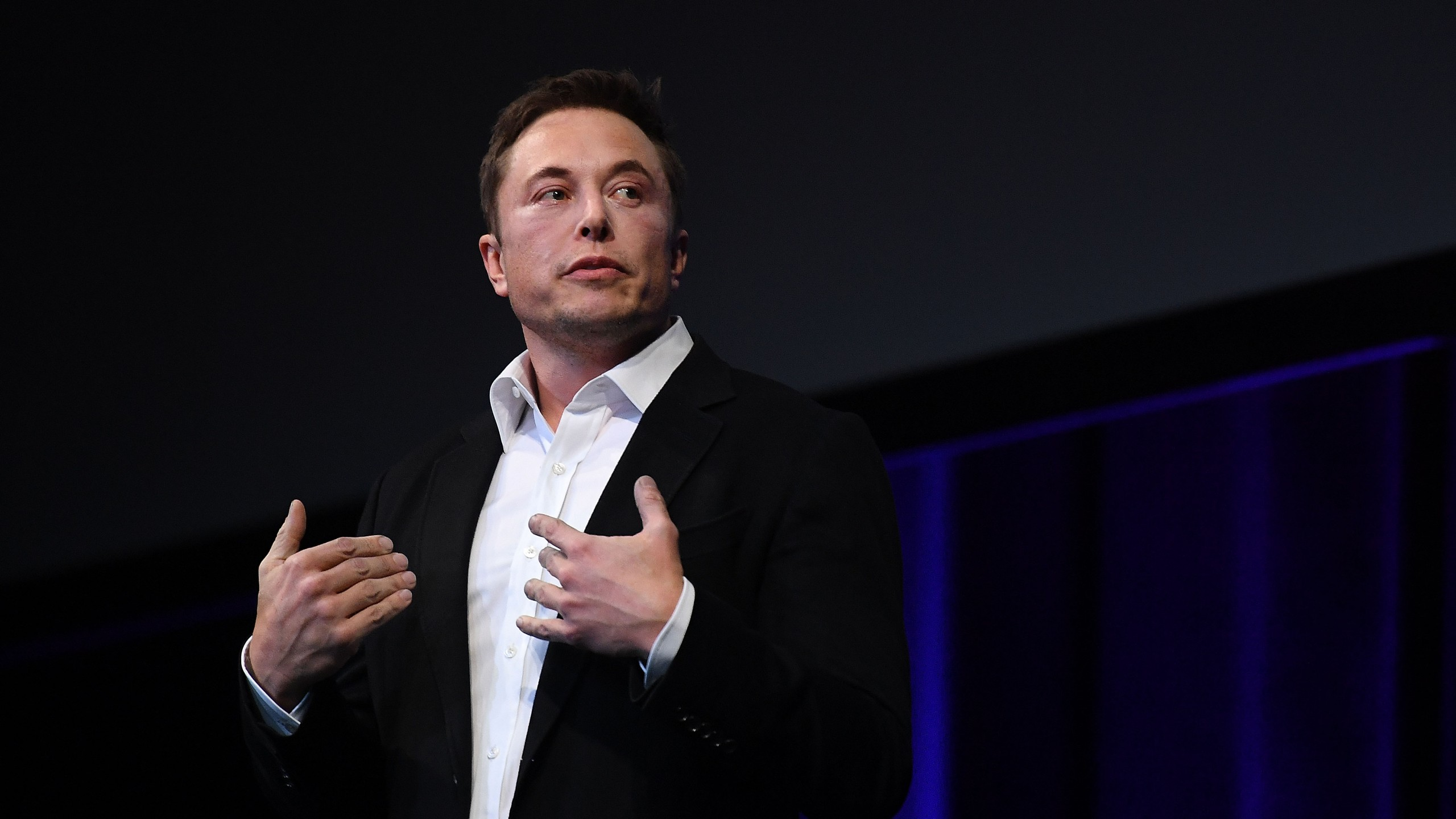 SpaceX and Tesla CEO Elon Musk speaks at the International Astronautical Congress on September 29, 2017 in Adelaide, Australia.(Credit: Mark Brake/Getty Images)