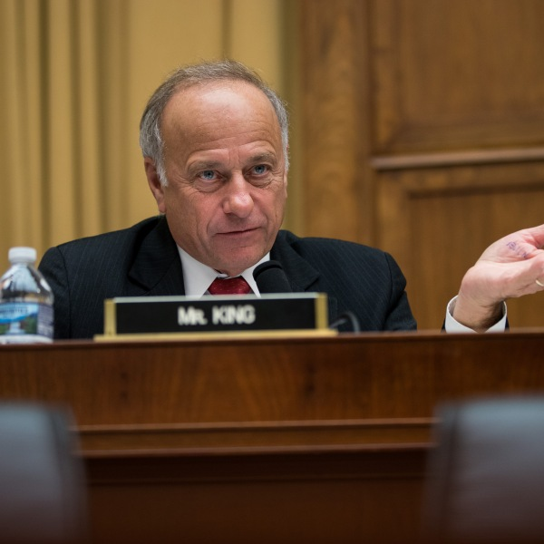 Rep. Steve King (R-IA) questions witnesses during a House Judiciary Committee hearing concerning the oversight of the U.S. refugee admissions program on Oct. 26, 2017. (Credit: Drew Angerer/Getty Images)