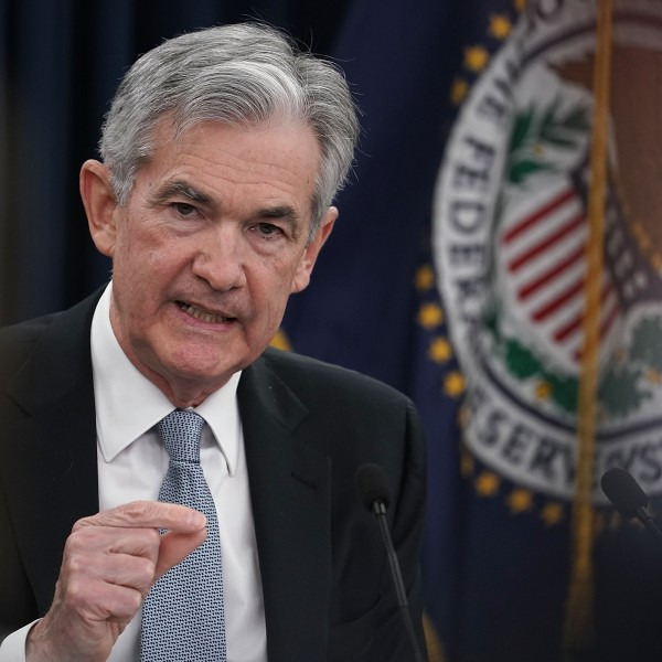 U.S. Federal Reserve Chairman Jerome Powell speaks during a news conference March 21, 2018 in Washington, D.C. (Credit: Alex Wong/Getty Images)