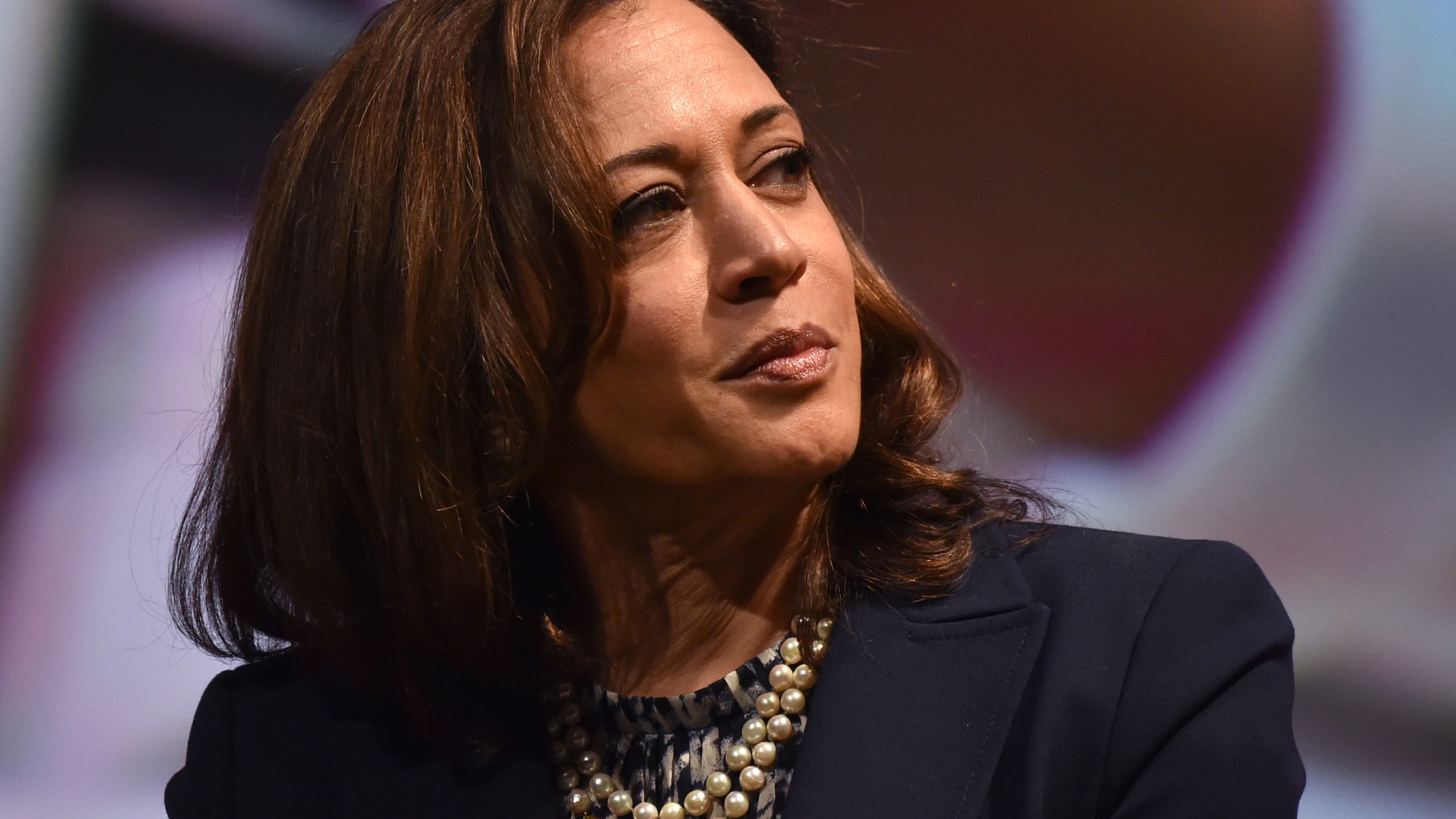 Senator Kamala Harris attends the United State of Women Summit at the Shrine Auditorium in Los Angeles, on May 5, 2018. (Chris Delmas/AFP/Getty Images)