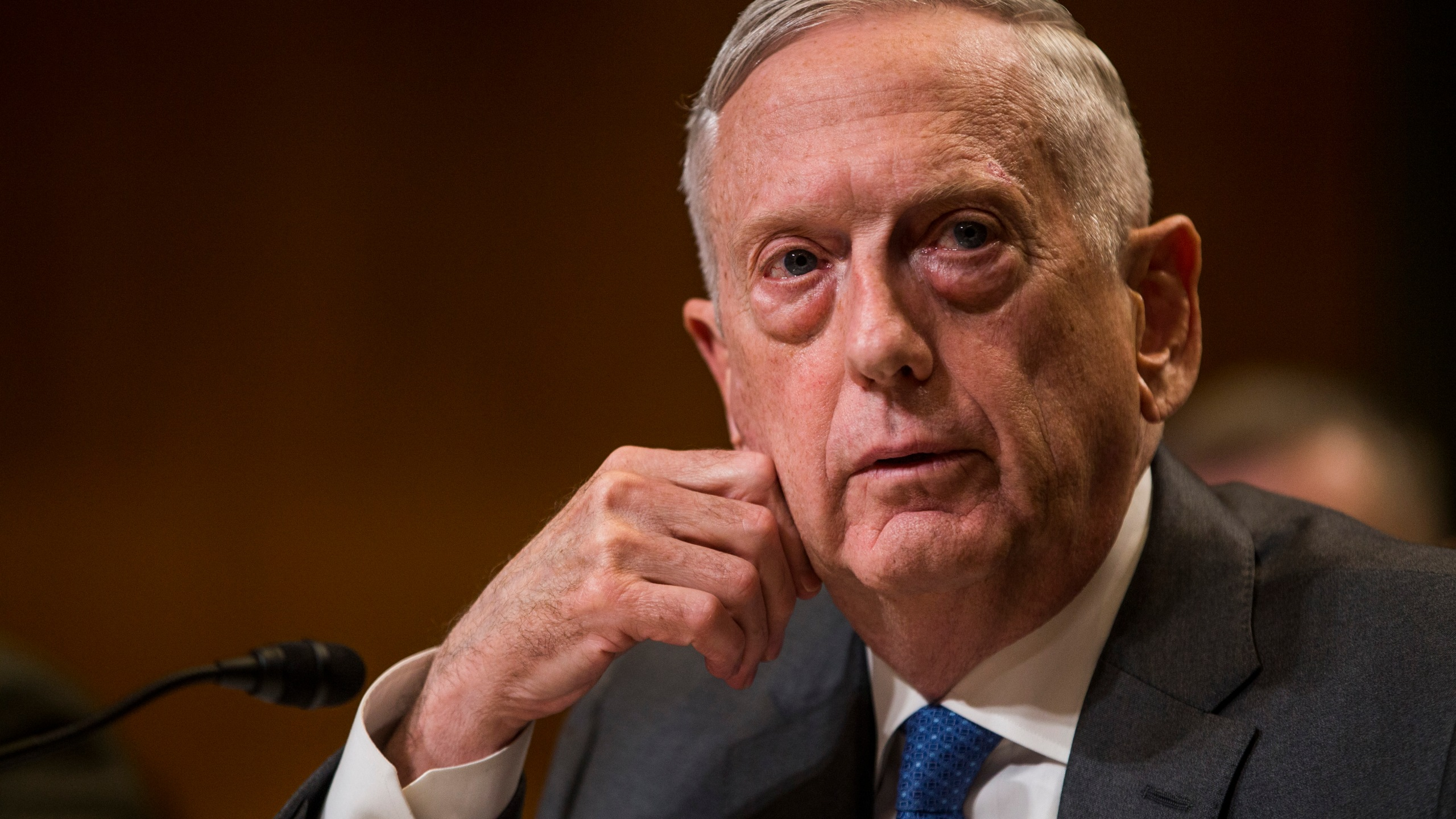 Secretary of Defense James Mattis testifies during a Senate Appropriations Subcommittee on Defense hearing on May 9, 2018, in Washington, D.C. (Credit: Zach Gibson/Getty Images)