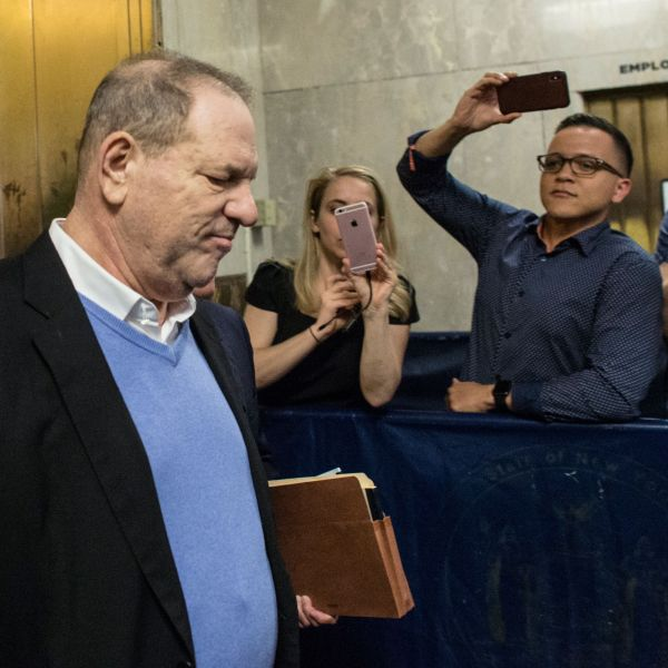 Harvey Weinstein leaves the Manhattan Criminal Court on May 25, 2018 in New York. (Credit: KENA BETANCUR/AFP/Getty Images)