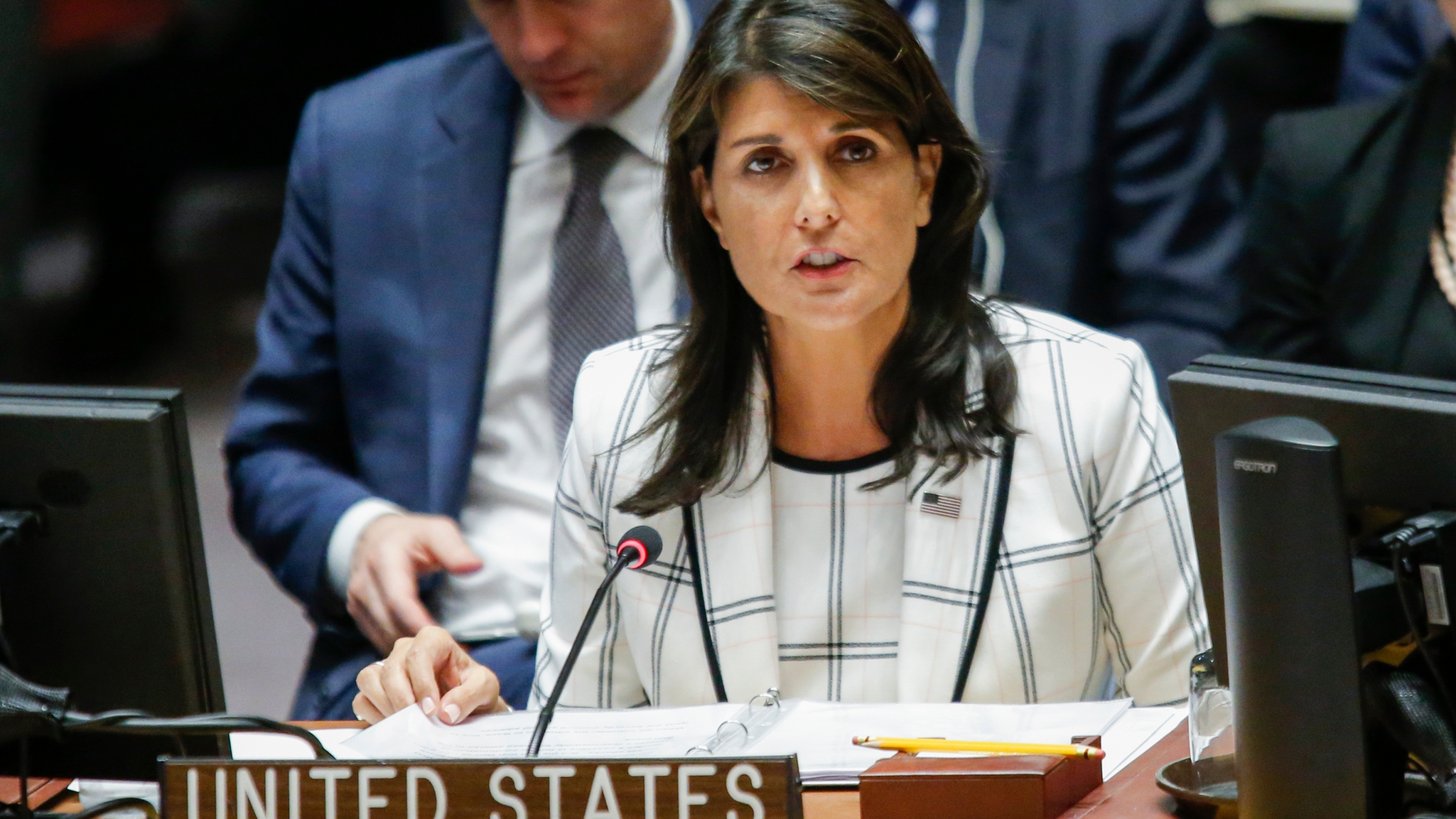 United States Ambassador to the United Nations Nikki Haley speaks during a meeting at the U.N. headquarters in New York City on May 30, 2018. (Credit: Eduardo Munoz Alvarez/Getty Images)