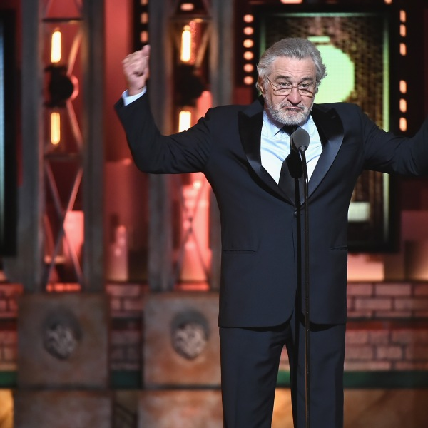 Robert De Niro speaks onstage during the 72nd Annual Tony Awards at Radio City Music Hall on June 10, 2018. (Credit: Theo Wargo/Getty Images for Tony Awards Productions)