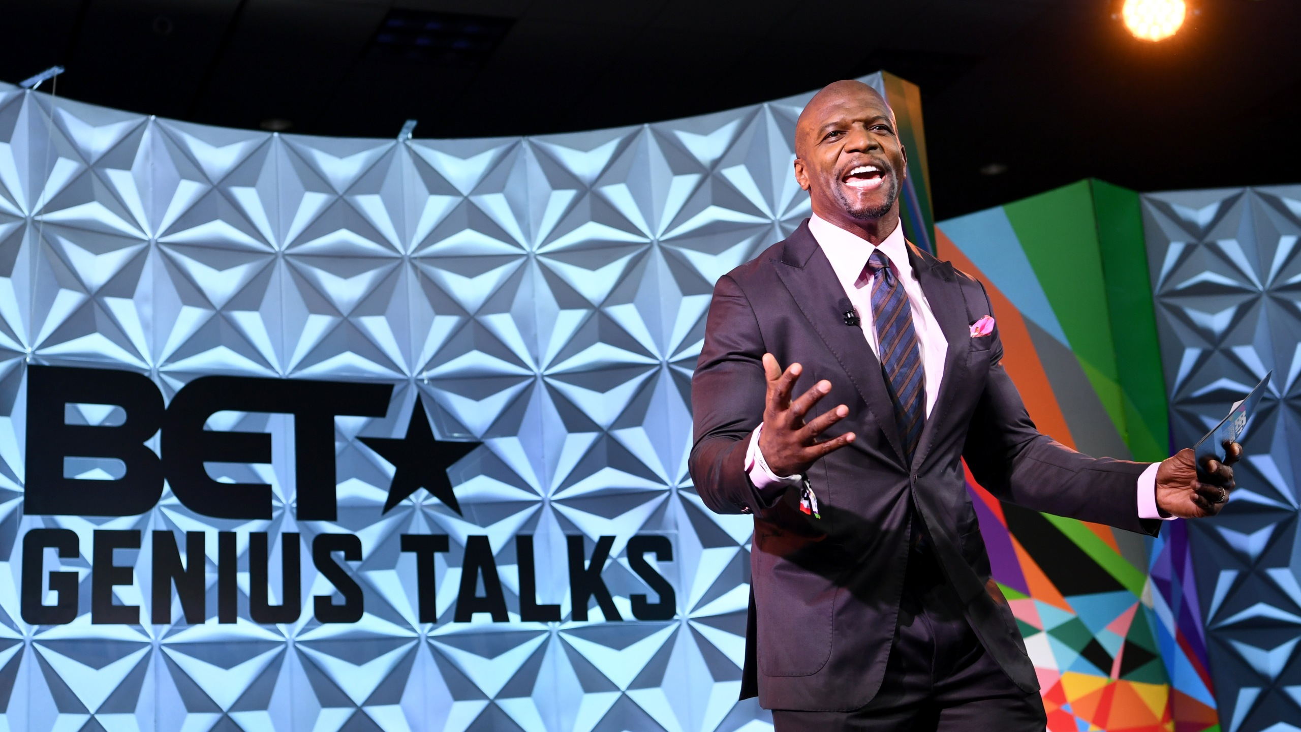 Terry Crews speaks onstage at the Genius Talks sponsored by AT&T during the 2018 BET Experience at the Los Angeles Convention Center on June 23, 2018, in Los Angeles. (Credit: Emma McIntyre/Getty Images for BET)