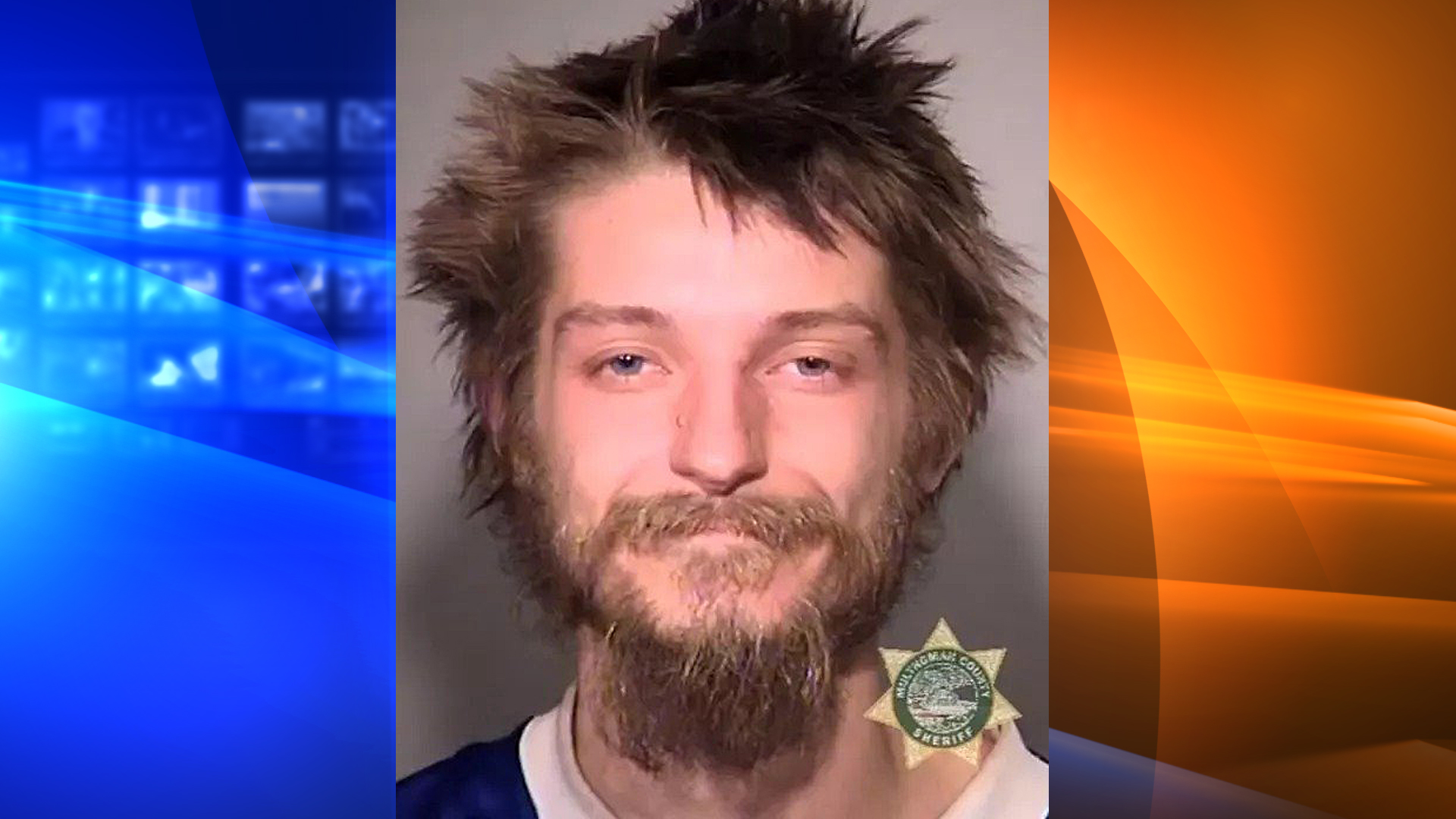 Portland police officers say a homeless man is being charged with a hate crime after yelling homophobic slurs at a group and assaulting a man Sunday night. (Credit: Portland PD)