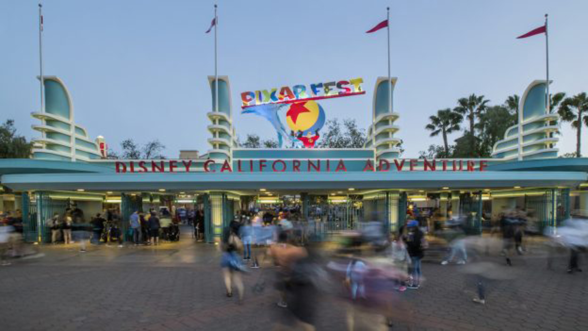 The Disney California Adventure entrance. (Credit: Disney)