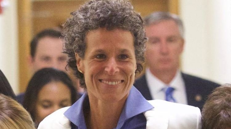 Andrea Constand is seen after the guilty on all counts verdict was delivered in Bill Cosby's sexual assault retrial in Norristown, Pennsylvania, on April 26, 2018. (Credit: Mark Makela / Getty Images)