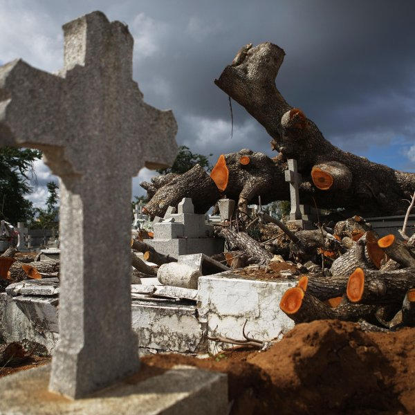 Deaths on Puerto Rico spiked sharply around the time Hurricane Maria devastated the US territory, newly released data from the island's government show -- perhaps dovetailing with assertions that the government's official storm death toll is far too low. (Credit: Mario Tama/Getty Images)