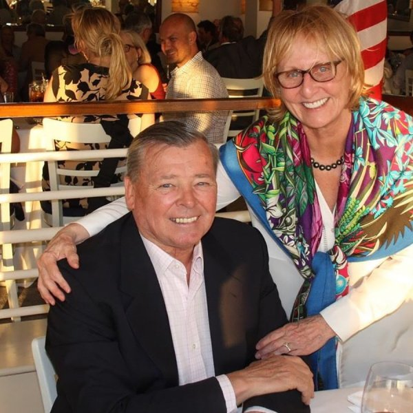 Bernard and Bonnie Krupinski in May 2017 when they were honored as Citizens of the Year by the East Hampton Lions Club. (Credit: Durell Godfrey/The East Hampton Star)