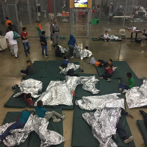 Federal officials said the immigrants were only being processed and wouldn't be here longer than three days, but lawmakers reported they'd been told by immigrants within the facility that they had been there for seven. (Credit: US Customs and Border Patrol)