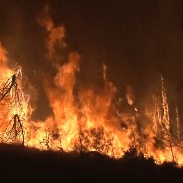 Gov. Jerry Brown declared a state of emergency in parts of Northern California due to raging wildfires that have burned 10,500 acres so far. (Credit: KPIX via CNN)
