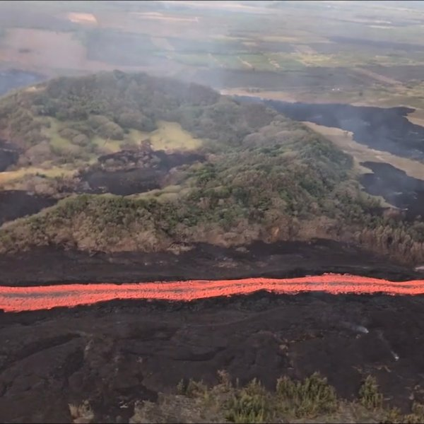 For the seventh time in eight days, an explosion at the Kilauea summit on Hawaii's Big Island erupted Thursday morning with a force equivalent to an earthquake of magnitude 5.3 or higher, according to the US Geological Survey. (Credit: USGS)
