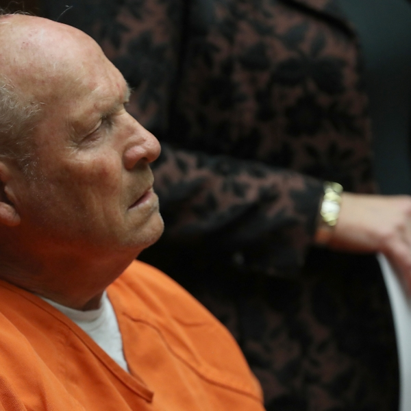 Joseph James DeAngelo, the suspected 'Golden State Killer', appears in court for his arraignment on April 27, 2018 in Sacramento. (Credit: Justin Sullivan/Getty Images)