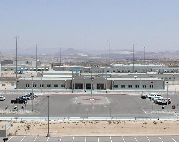 One of the two medium-security facilities at the Victorville Federal Correctional Complex is shown in an undated image from the Federal Bureau of Prisons website.