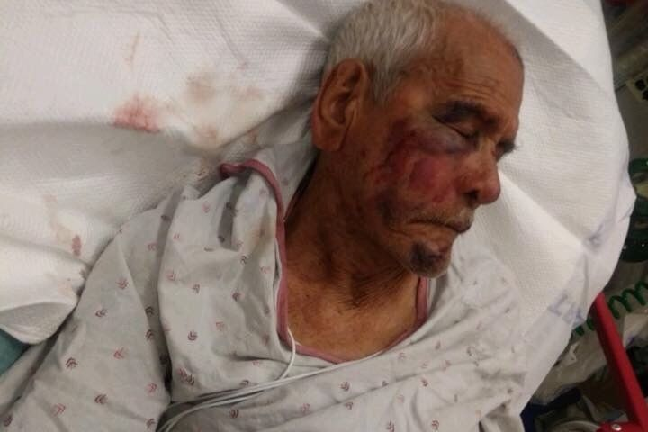 Rodolfo Rodriguez, 92, is seen in his hospital bed in an image uploaded to a GoFundMe campaign on July 6, 2018.