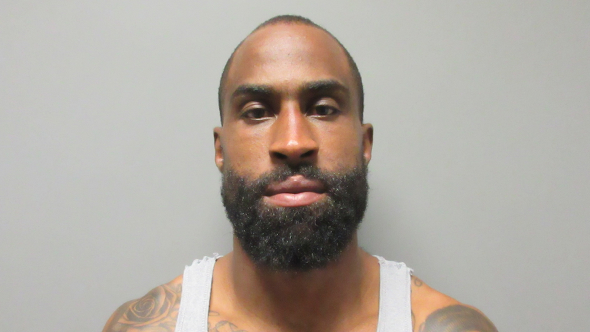 Brandon Browner, a former NFL player, is seen in a booking photo released by La Verne police on July 8, 2018.