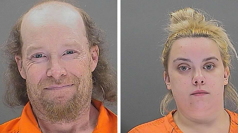 William Herring, left, and Brianna Brochhausen are seen in booking photos released by New Jersey State Police and obtained by WPIX.