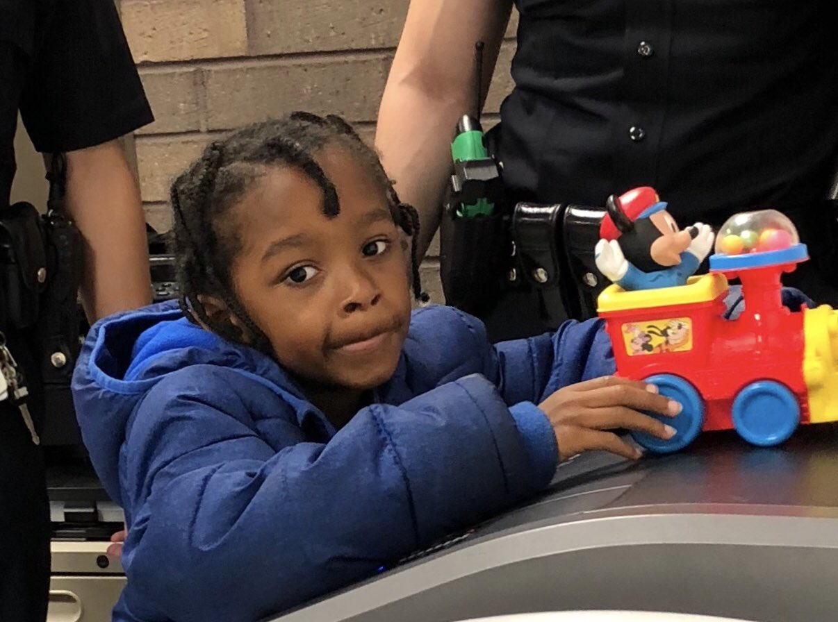 Los Angeles police released this image of a boy found alone at Union Station on July 4, 2018.