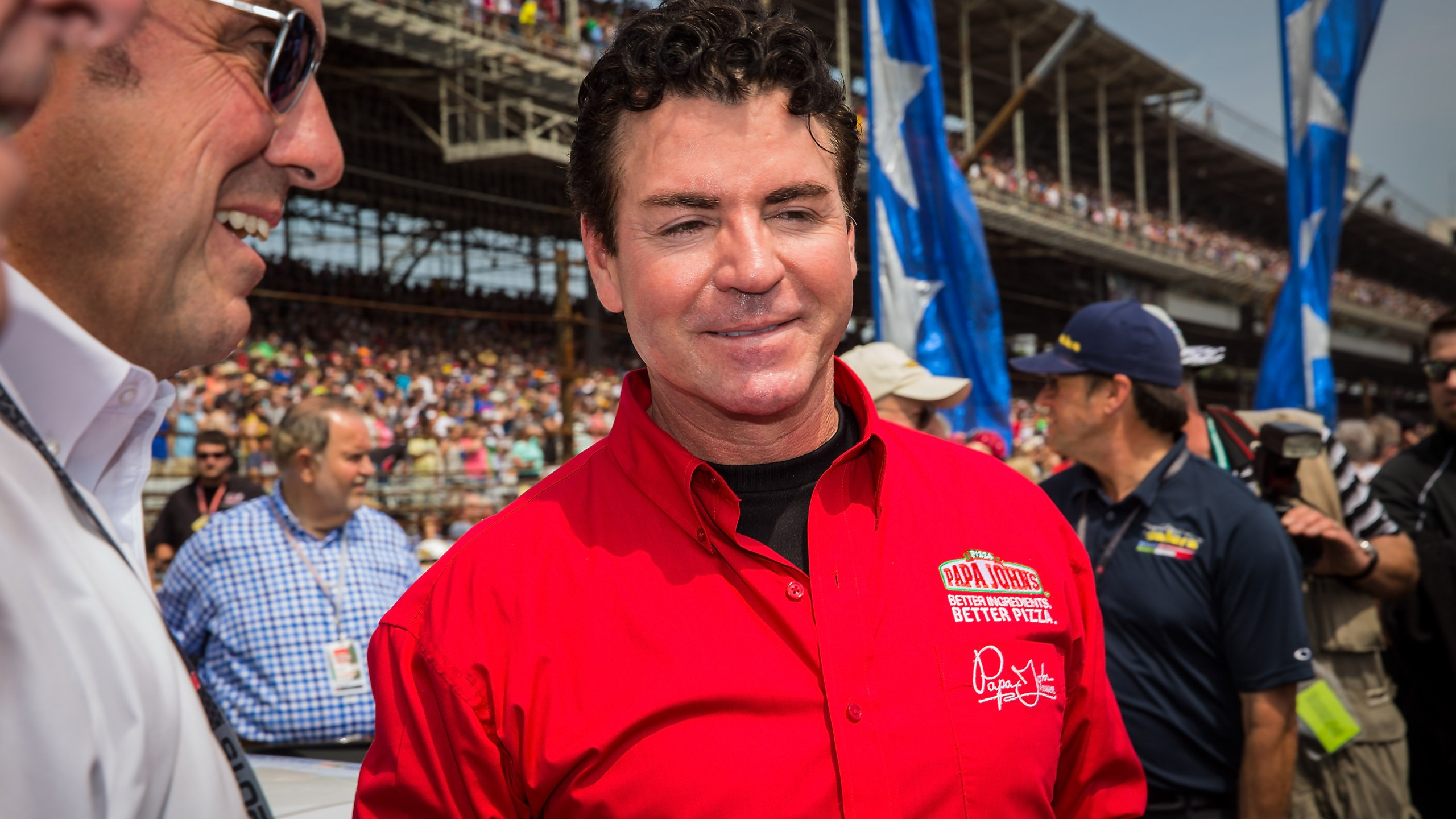 Papa John's founder and CEO John Schnatter attends the Indy 500 on May 23, 2015, in Indianapolis, Indiana. (Credit: Michael Hickey / Getty Images)