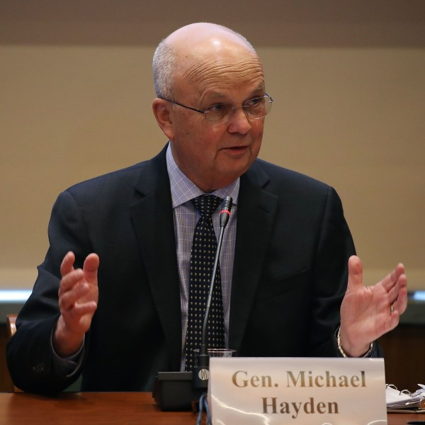 Former CIA and NSA Director Gen. Michael Hayden delivers remarks at the National Academy of Sciences on October 18, 2017, in Washington, D.C. (Credit: Mark Wilson/Getty Images)