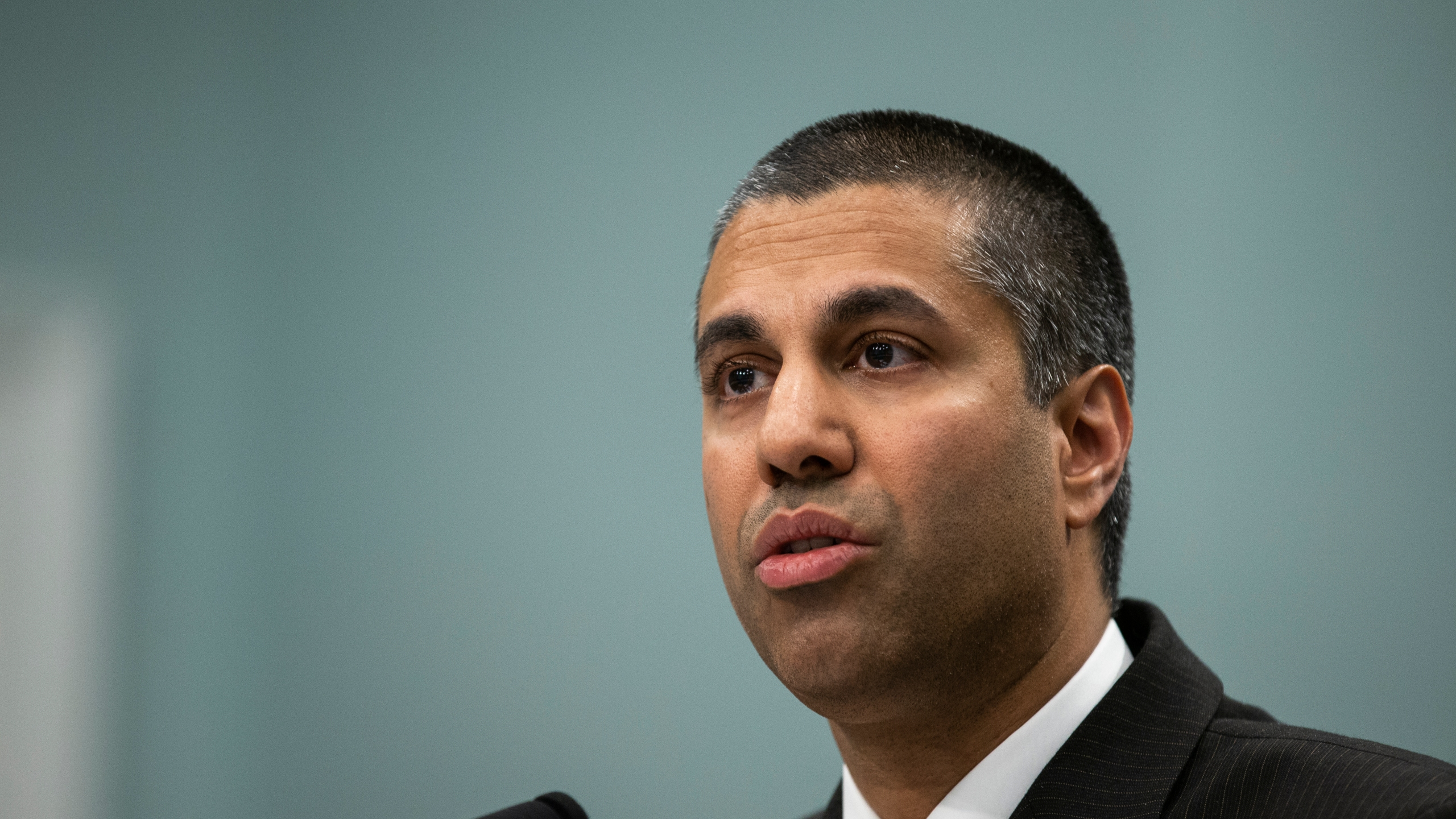 FCC Chairman Ajit Pai testifies before the House Appropriations Committee during a hearing on the 2019FY FCC Budget on April 26, 2018. (Credit: Alex Edelman/Getty Images)