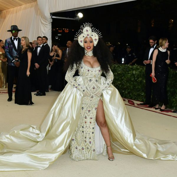 Cardi B arrives for the 2018 Met Gala on May 7, 2018, at the Metropolitan Museum of Art in New York. (Credit: Angela Weiss/AFP/Getty Images)
