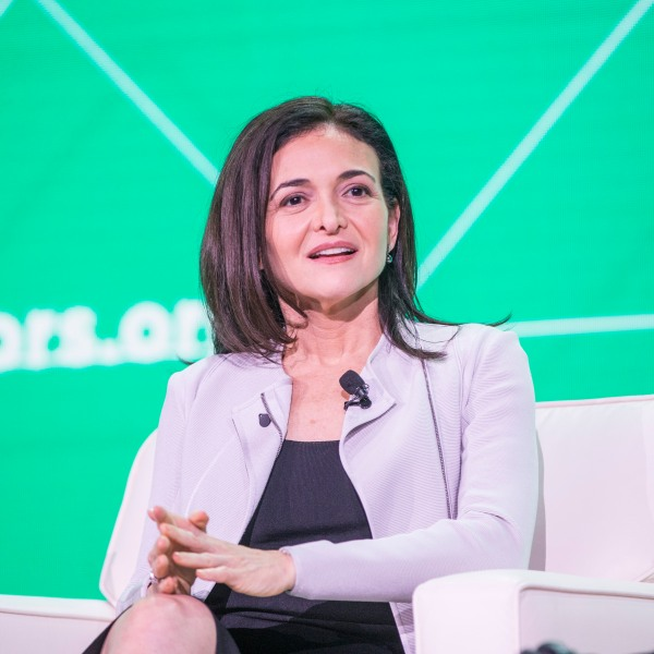 Facebook COO Sheryl Sandberg speaks at the U.S. Conference of Mayors on June 8, 2018 in Boston, Massachusetts. (Credit: Scott Eisen/Getty Images)