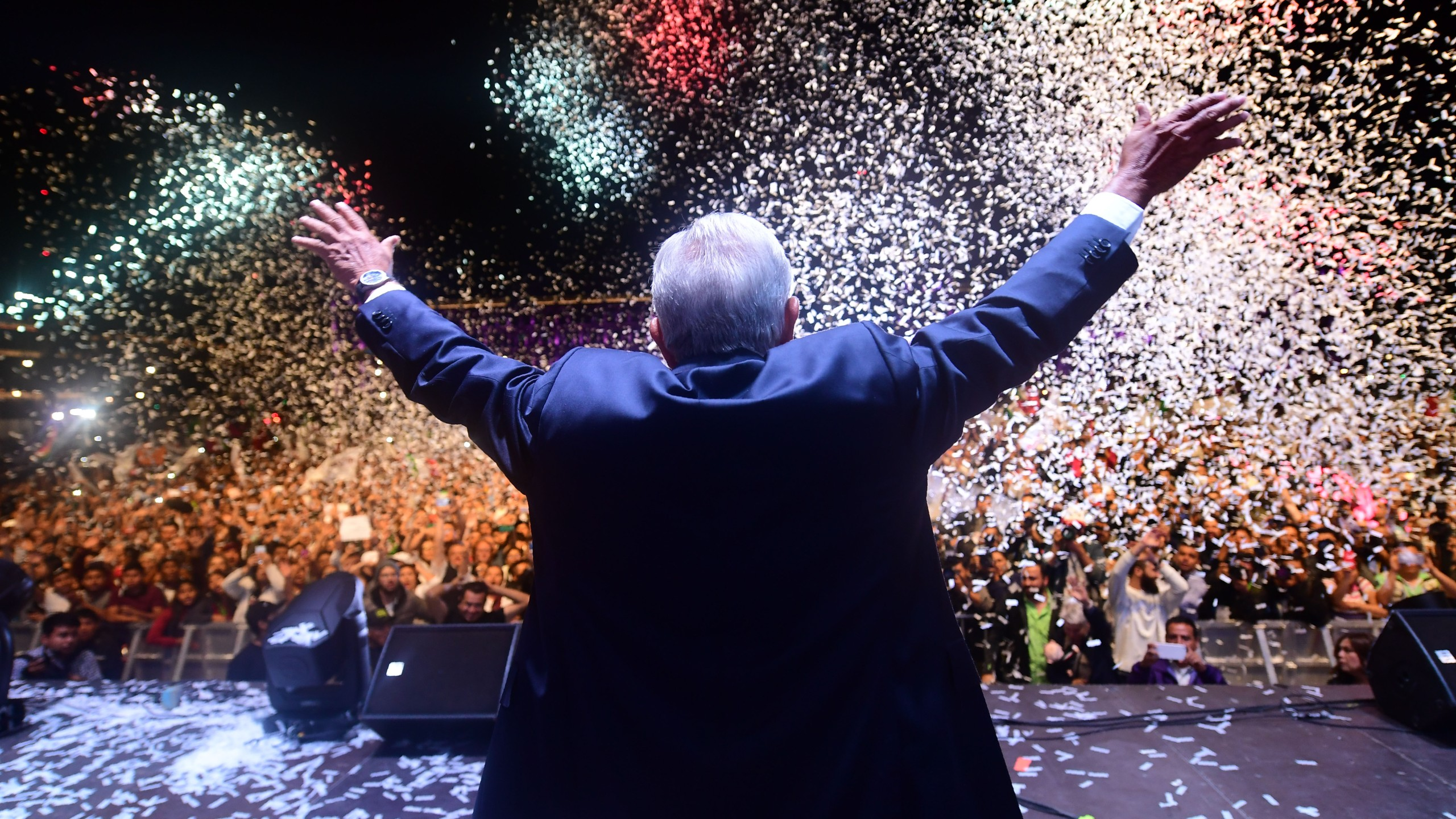 Newly elected Mexico's President Andres Manuel Lopez Obrador in Mexico City, on July 1, 2018. (Credit: PEDRO PARDO/AFP/Getty Images)