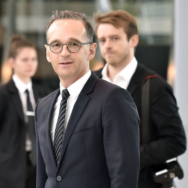 Germany Foreign Minister Heiko Maas arrives for a Comprehensive Plan of Action (JCPOA) ministerial meeting on the Iran nuclear deal on July 6, 2018 in Vienna, Austria. (Credit: HANS PUNZ/AFP/Getty Images)
