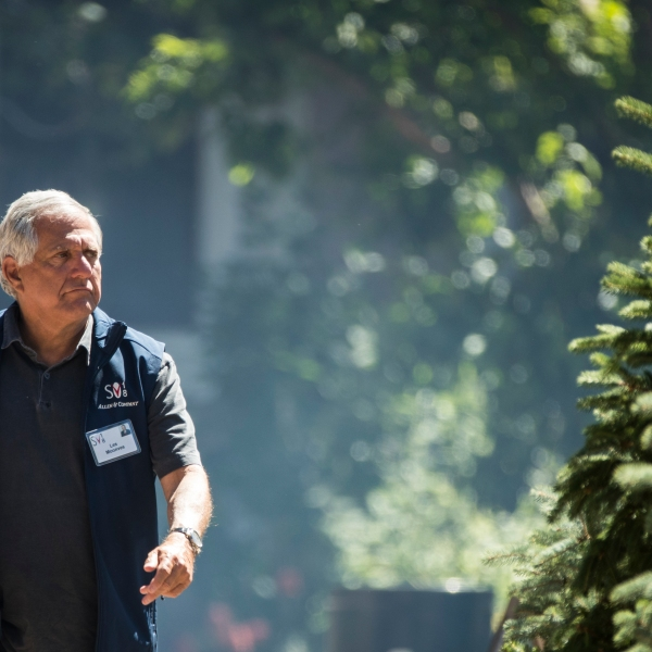 """Leslie """"Les"""" Moonves, president and chief executive officer of CBS Corp., attends the annual Allen & Co. Sun Valley Conference, July 11, 2018, in Sun Valley, Idaho. (Credit: Drew Angerer/Getty Images)"""