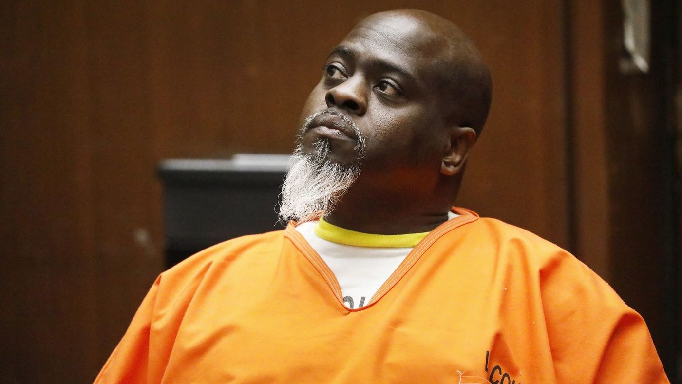"""Cleamon Johnson, a gang leader known as """"Big Evil,"""" faces the death penalty in a long-running murder case that has been rocked by accusations of racial bias on behalf of an LAPD detective who was a lead investigator involved. (Credit: Al Seib / Los Angeles Times)"""