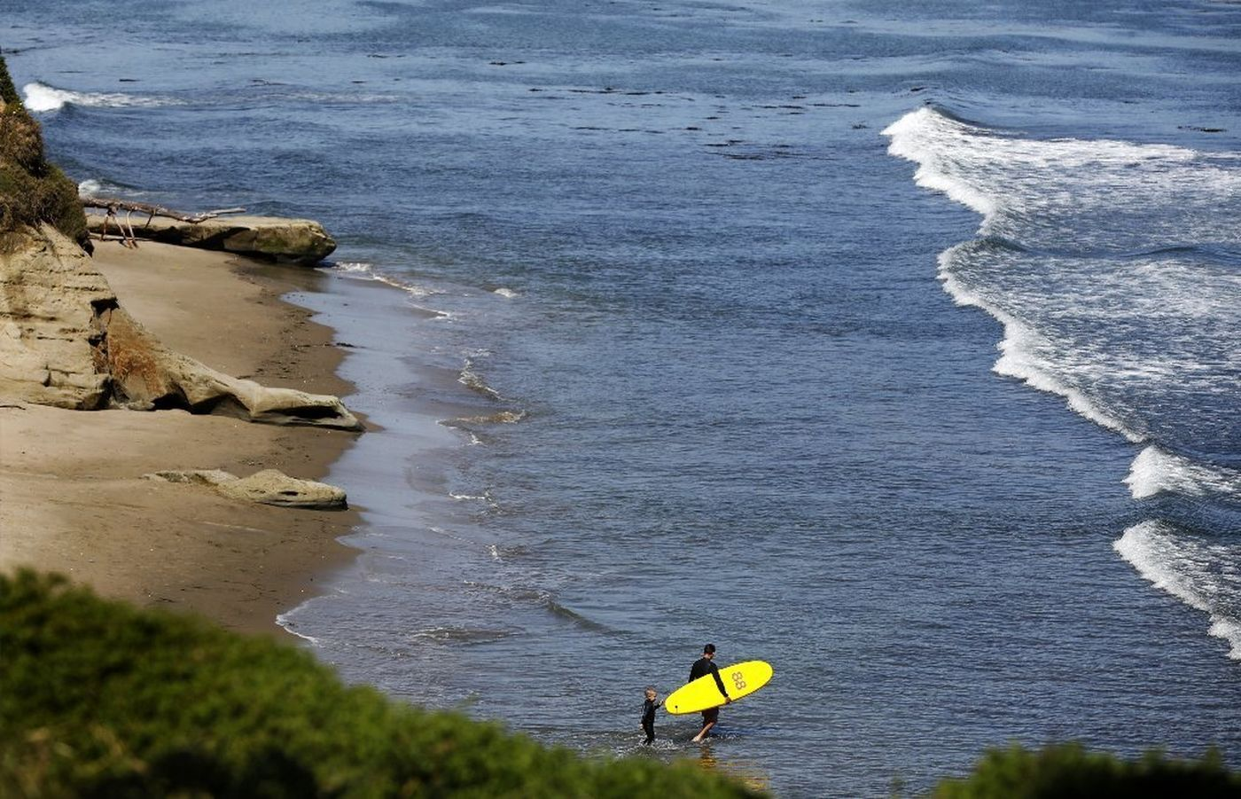Opal Cliffs, also known as Privates Beach, is a secluded pocket beach managed by a neighborhood district and accessible with a $100 annual gate key. (Credit: Christina House / Los Angeles Times)