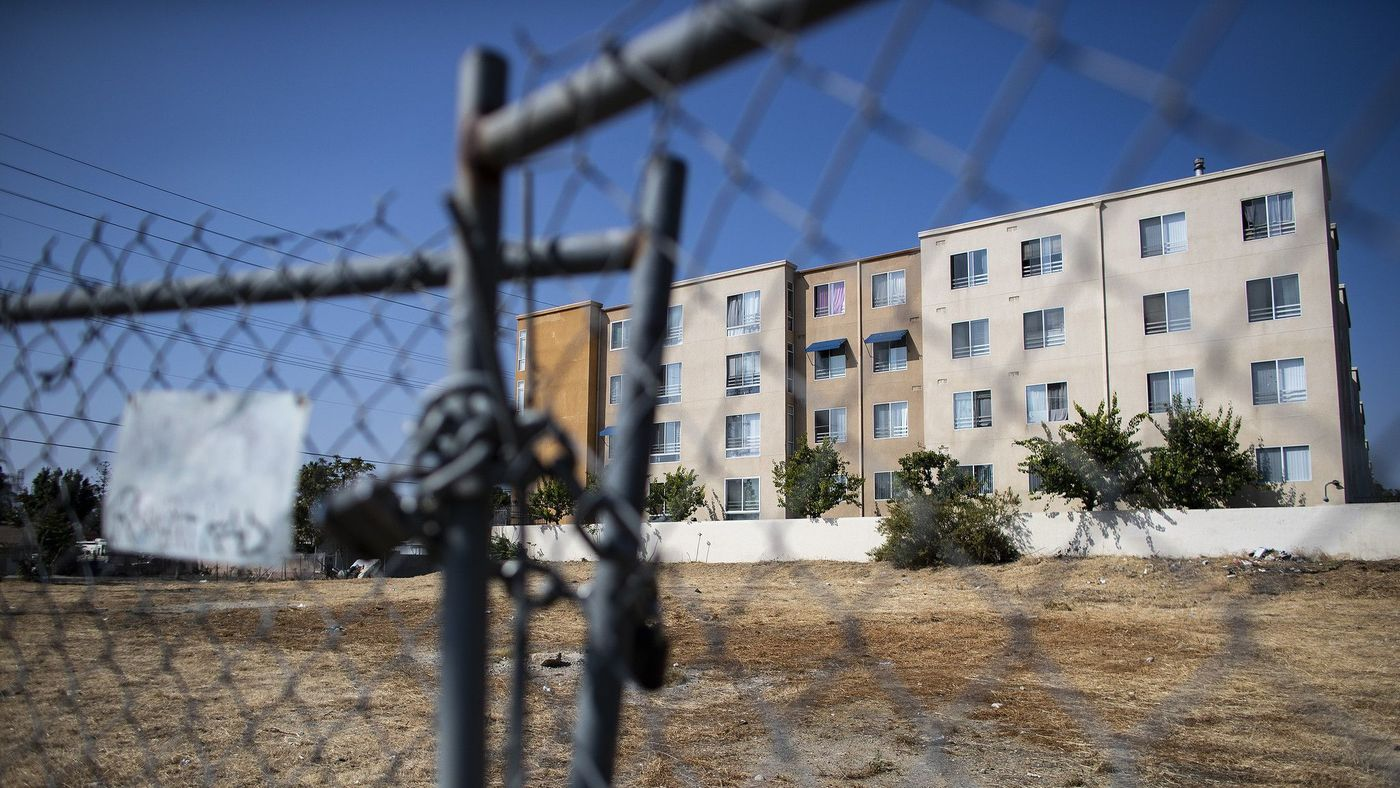 Los Angeles City Councilwoman Nury Martinez declined to provide a required letter for a proposed project to house homeless people on this vacant lot on Sheldon Street in Sun Valley, seen here in an undated photo. (Credit: Gina Ferazzi / Los Angeles Times)