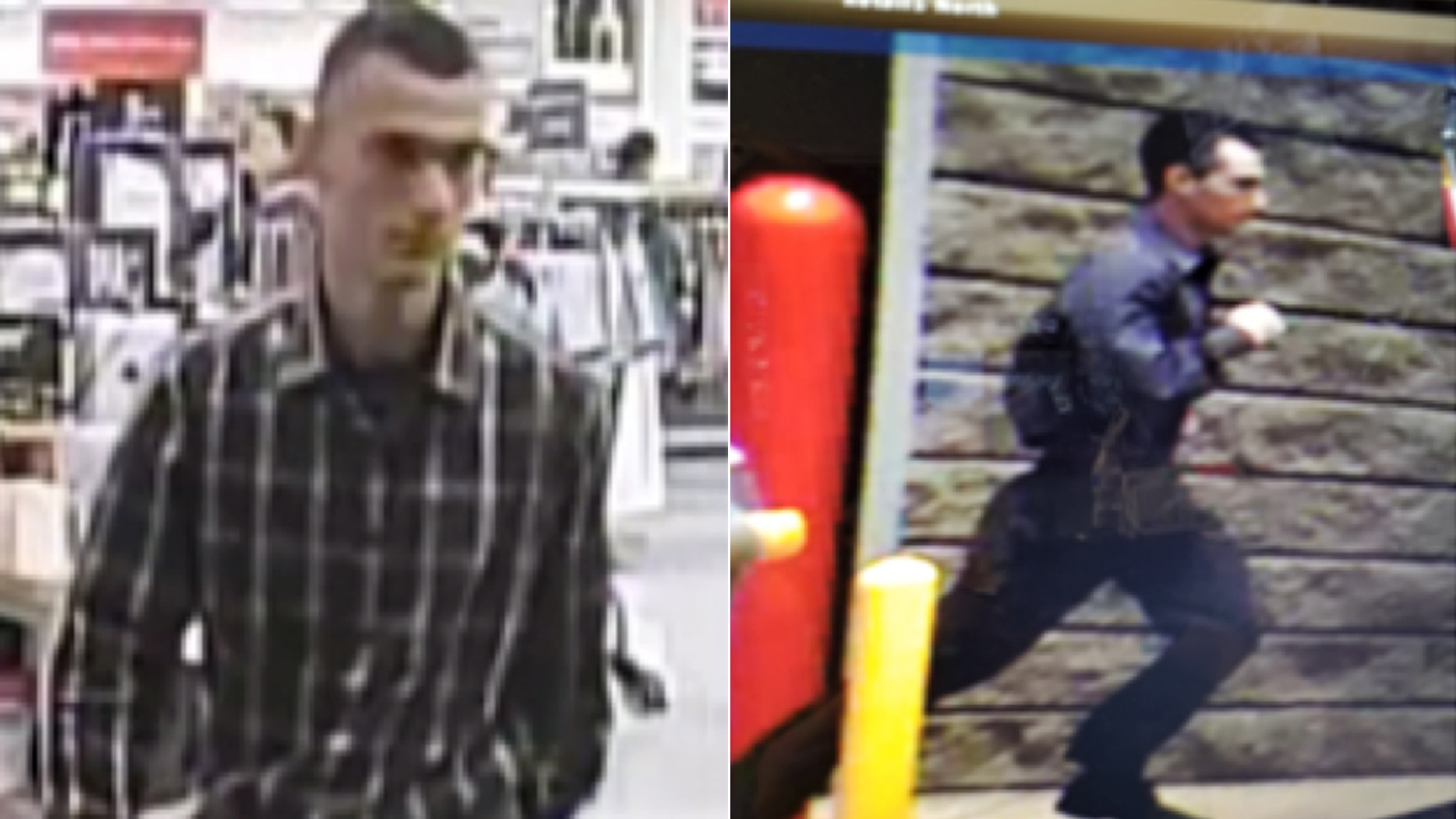 A man believed to have assaulted female shoppers in west San Fernando Valley is shown in still images from video surveillance provided by the Los Angeles Police Department on July 19, 2018.