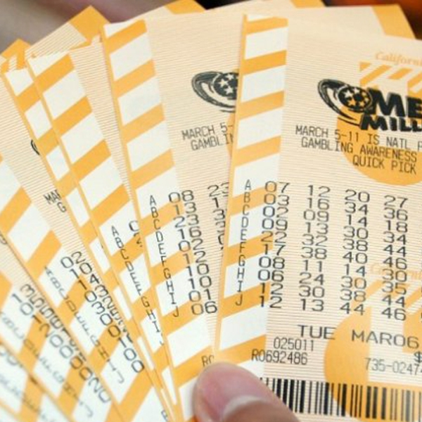 Mega Millions lottery tickets are seen in a file photo. (Credit: Getty Images)