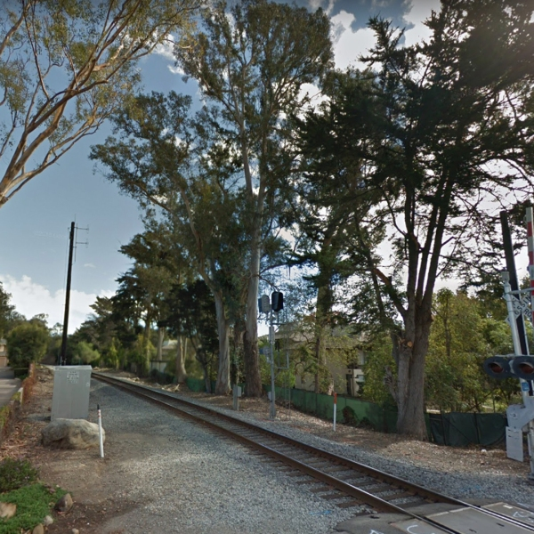 The area of Montecito near where a man was fatally struck by an Amtrak train on July 19, 2018, is seen here. (Credit: Google Maps)