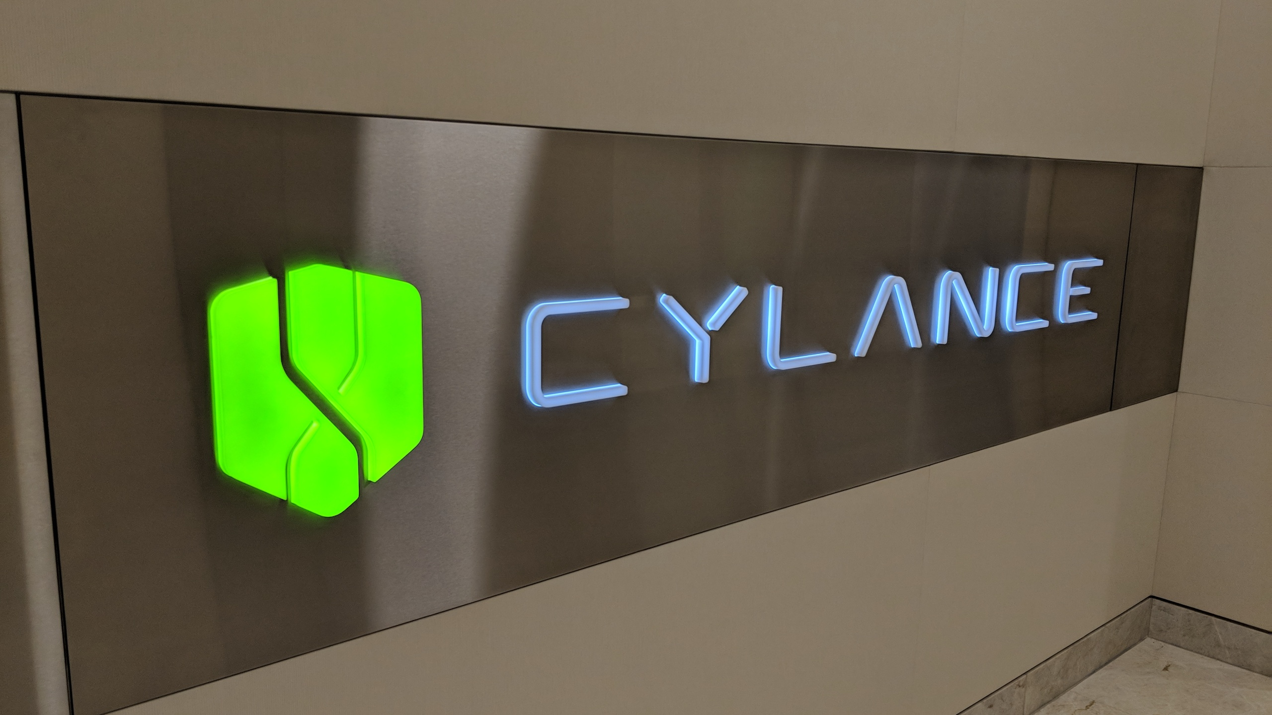 cylance logo sign at corporate headquarters in irvine california