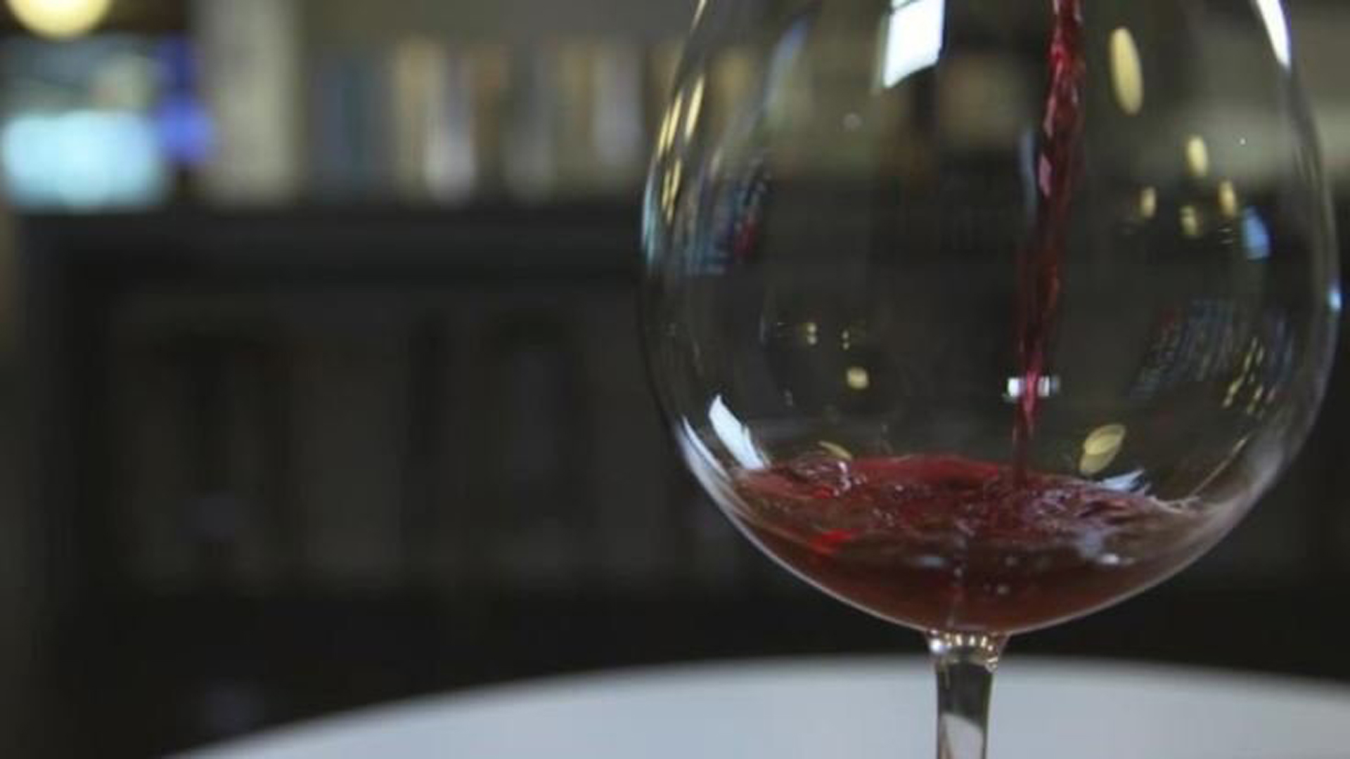 A file photo of a glass of red wine. (Credit: CNN)