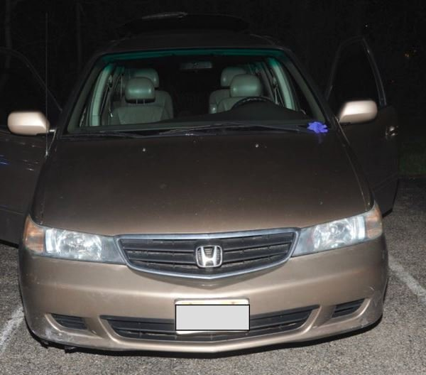 The 2002 Honda Odyssey in which Kyle Plush, 16, died on April 10, 2018. (Credit: Cincinnati Police via CNN)