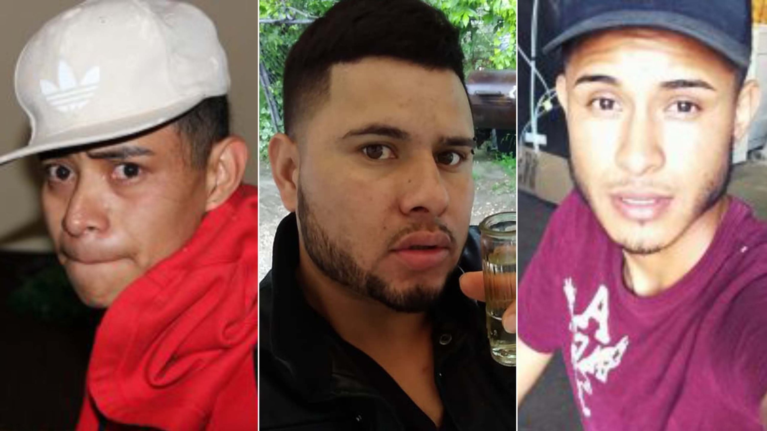 From left: Juan Garcia Rios Adiel, David Ramos Contreras and Arnulfo Ramos are in photos released by the Bowling Green Police.