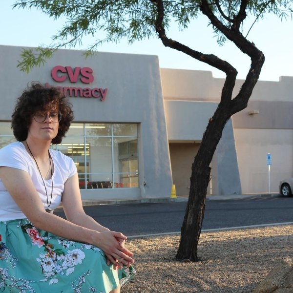 Hilde Hall filed a complaint against a CVS pharmacy in Arizona after she tried to fill her hormone prescription. (Credit: ACLU of Arizona via CNN)