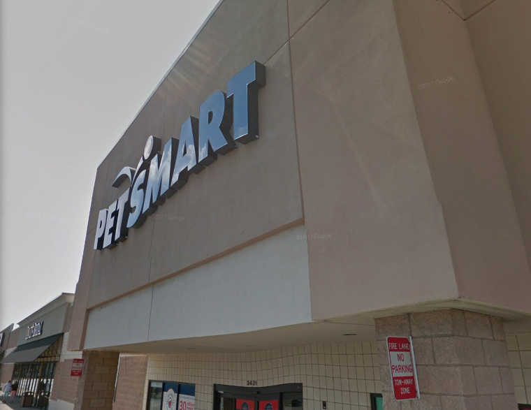The PetSmart on Tittabawassee Road in Saginaw Township, MI is seen in a photo from Google Maps.