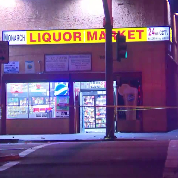 The scene of a deadly shooting in South L.A. on July 28, 2018, is seen here. (Credit: KTLA)