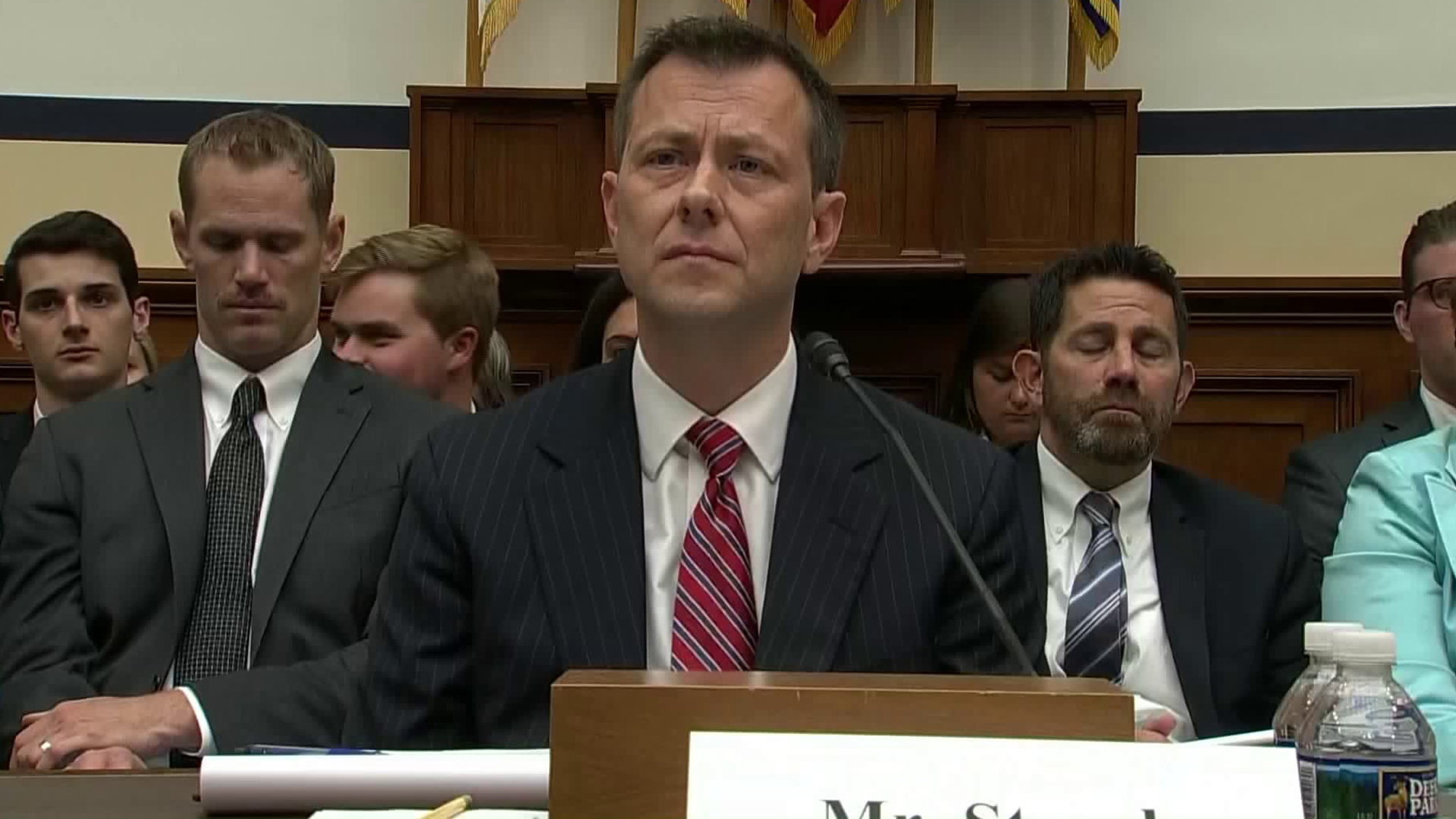 Peter Strzok testifies in front of the House Judiciary Committee on July 12, 2018. (Credit: Pool)