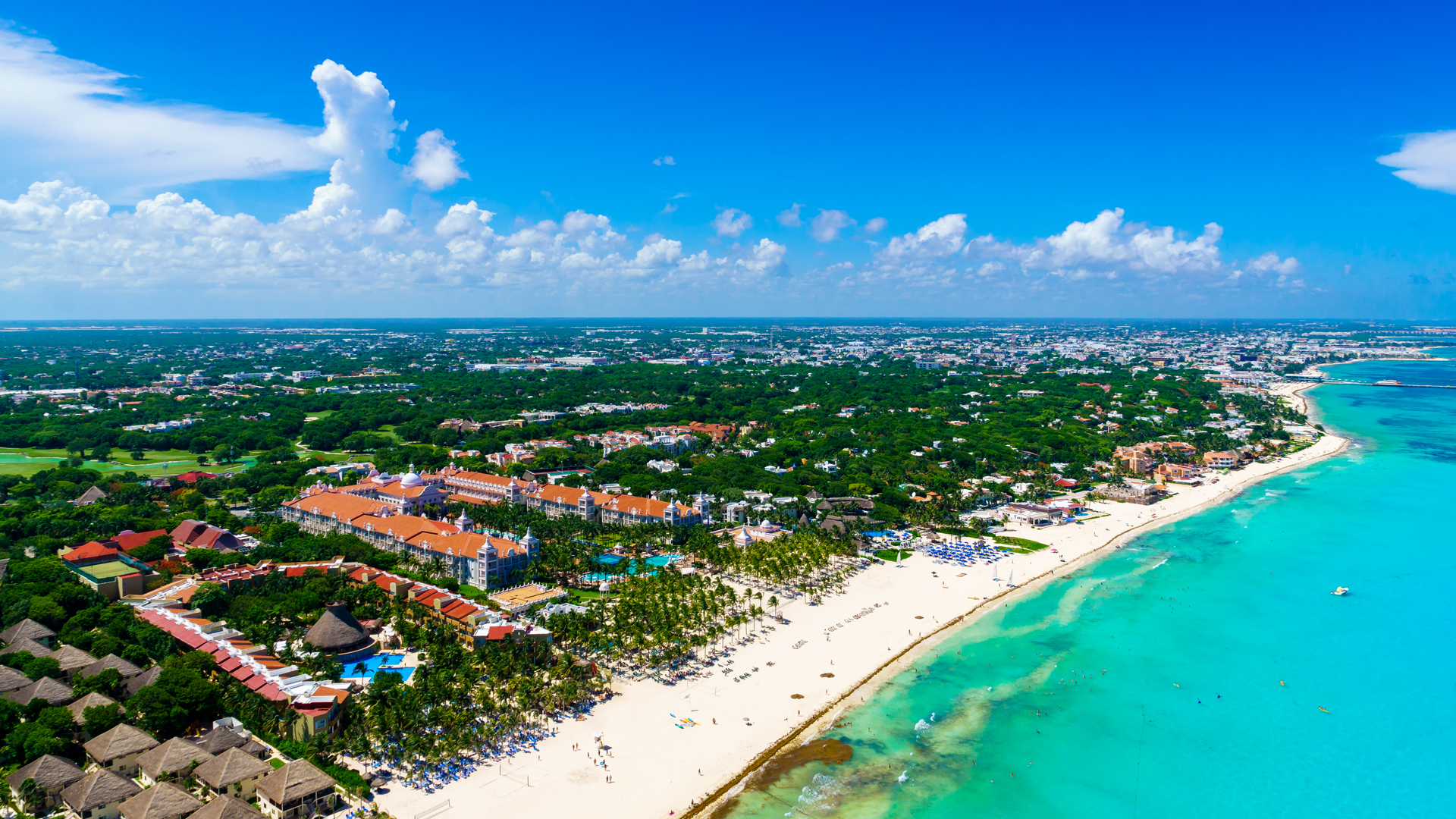 An aerial view of Cancun, Mexico, is seen in this file photo. (Credit: iStock / Getty Images Plus)
