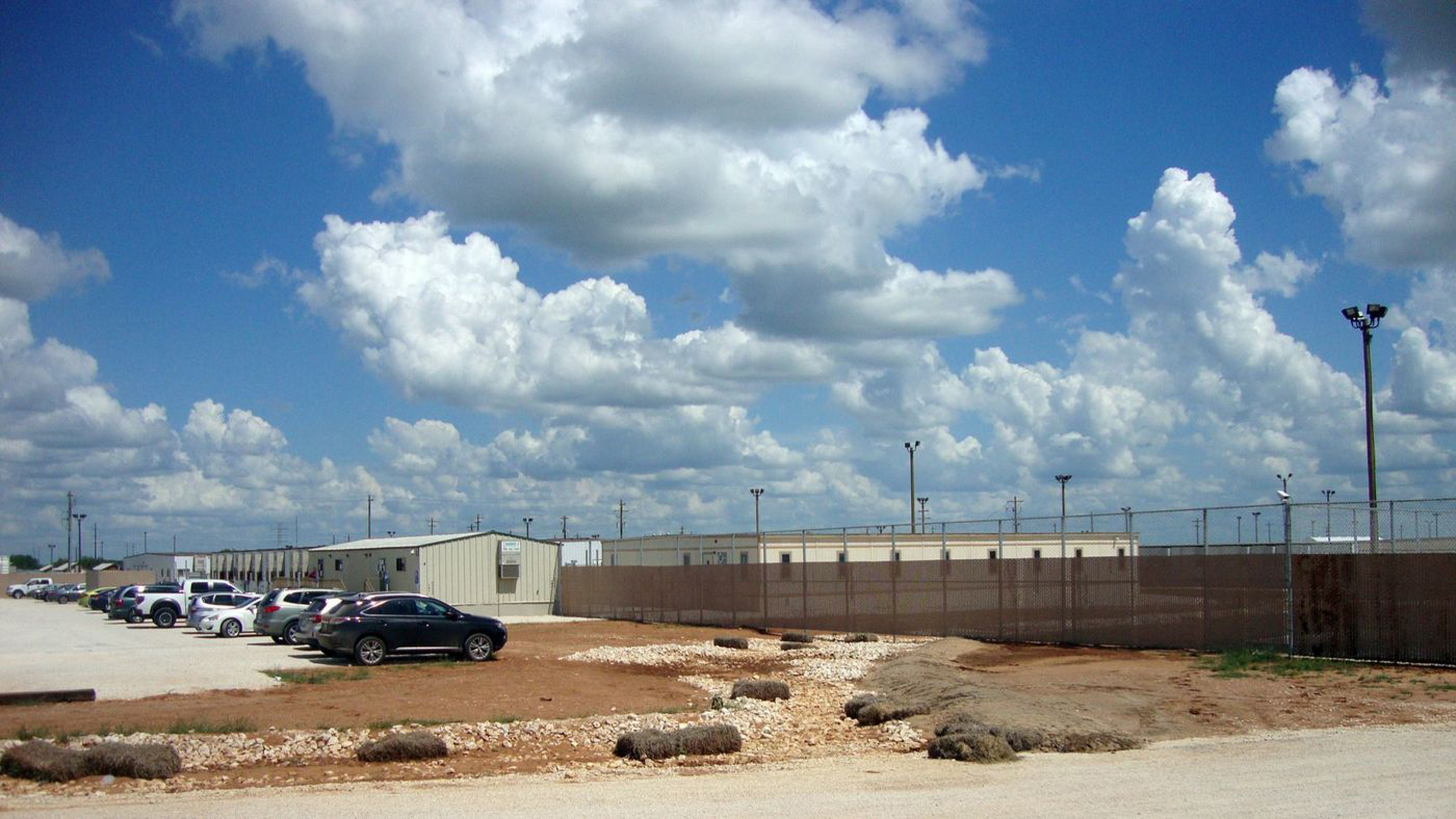 The South Texas Family Residential Center is the largest of the nation's three immigration detention centers for families. (Molly Hennessy-Fiske / Los Angeles Times)
