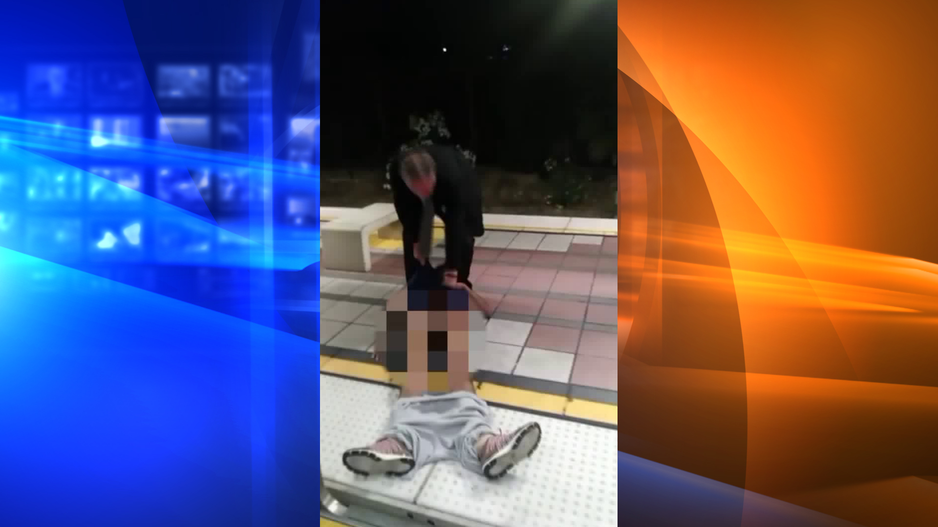 A video posted on BillionGODSun's YouTube page on Aug. 1, 2018 shows a man dragging an unresponsive man off a Blue Line train in Long Beach.